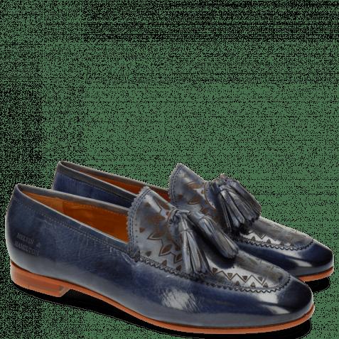 Loafers Scarlett 15 Moroccan Blue Lasercut