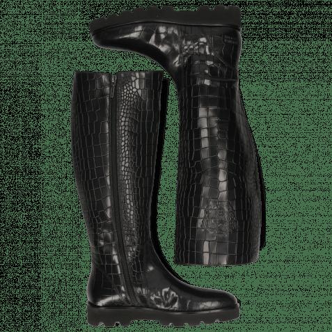 Stiefel Susan 7A Rio Reptile Black