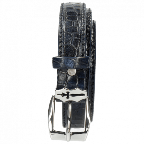 Gürtel Linda 1 Crock Navy Sword Buckle