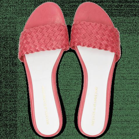 Pantoletten Hanna 26 Woven Hot Pink White