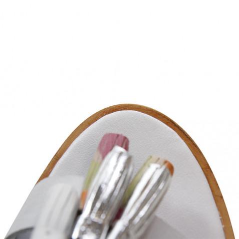 Sandalen Sandra 17 Crust White Nubuk Grey Tassel Multi LS