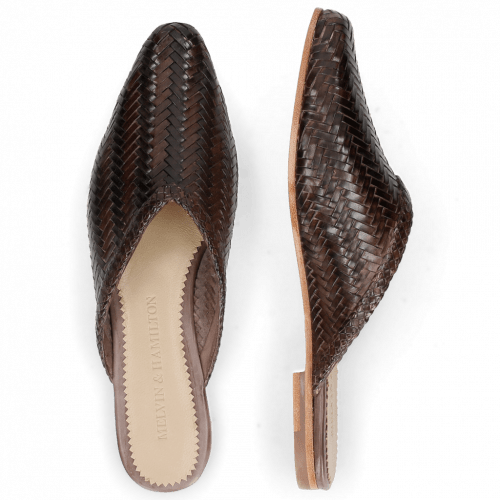 Mule Joolie 15 Woven Haring Bone Taupe
