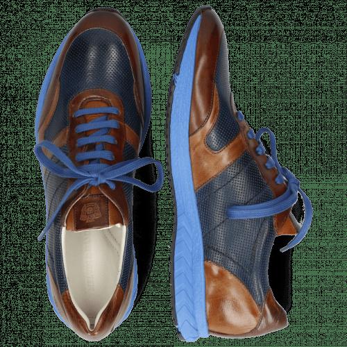 Sneakersy Blair 11 Pisa Wood Prick Perfo Navy Tobacco Mid Brown