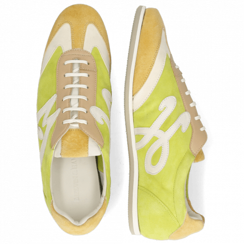 Sneakersy Pearl 4 Chrome Suede Yellow Cream New Grass
