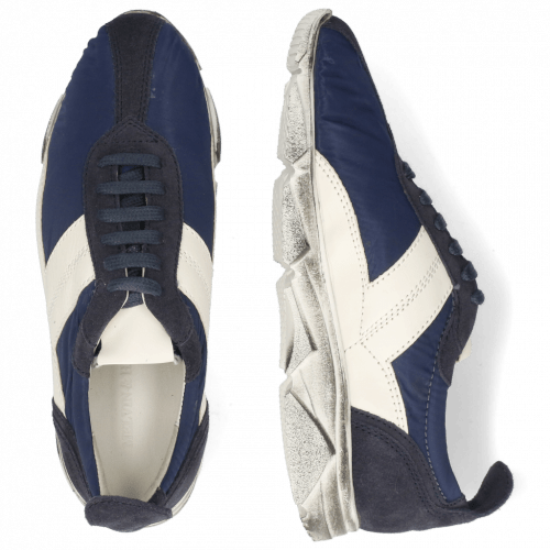 Sneakersy Briana 1 Suede Navy Funky Navy White