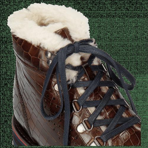 Botki Trevor 5 Crock Mid Brown Lining Fur