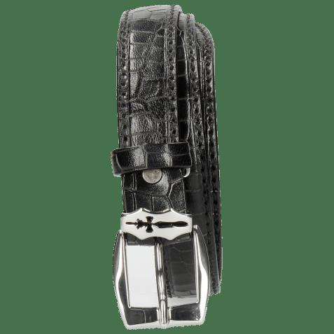 Paski Linda 1 Crock Black Sword Buckle