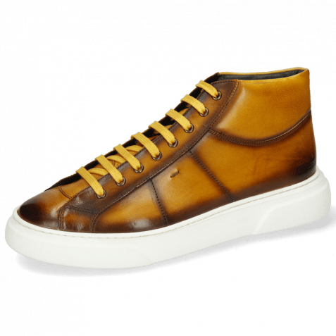 Sneakersy Mick 1 Pavia Indy Yellow Shade Dark Brown