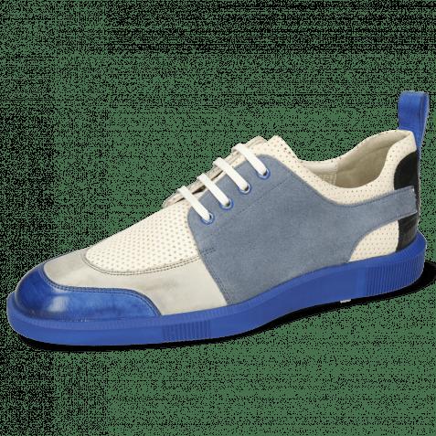 Sneakersy Newton 14 Vegas Electric Blue Oxygen Imola Perfo White Suede Pattini Fante