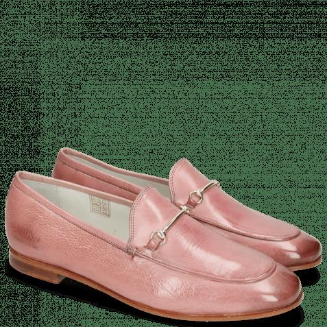 Mokasyny Scarlett 22 Glove Nappa Pink Salt Trim Gold