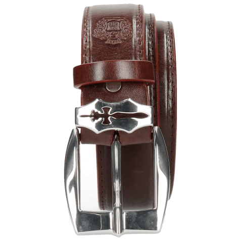 Paski Larry 1 Burgundy Sword Buckle