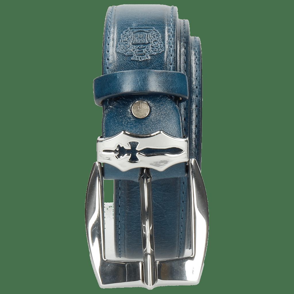 Paski Larry 1 Mid Blue Sword Buckle
