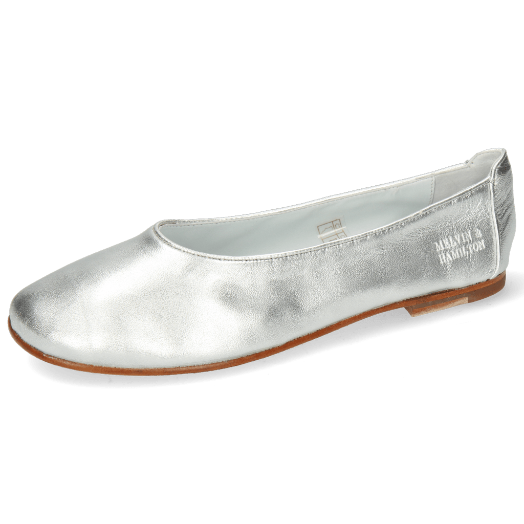Baleriny Iris 9  Nappa Silver Flex