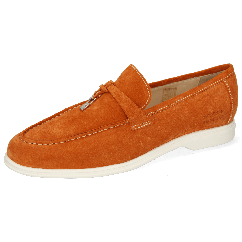 Mokasyny Earl 3  Suede Pattini Orange