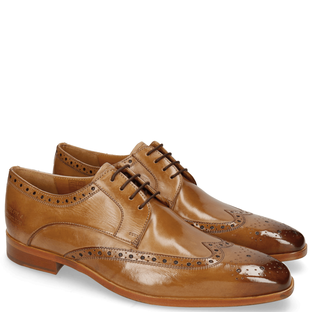 Derby Lewis 3 Cashmere Lining Rich Tan