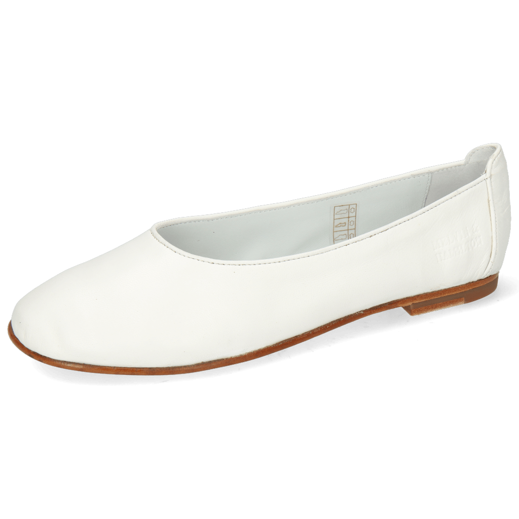 Baleriny Iris 9 Nappa White Flex