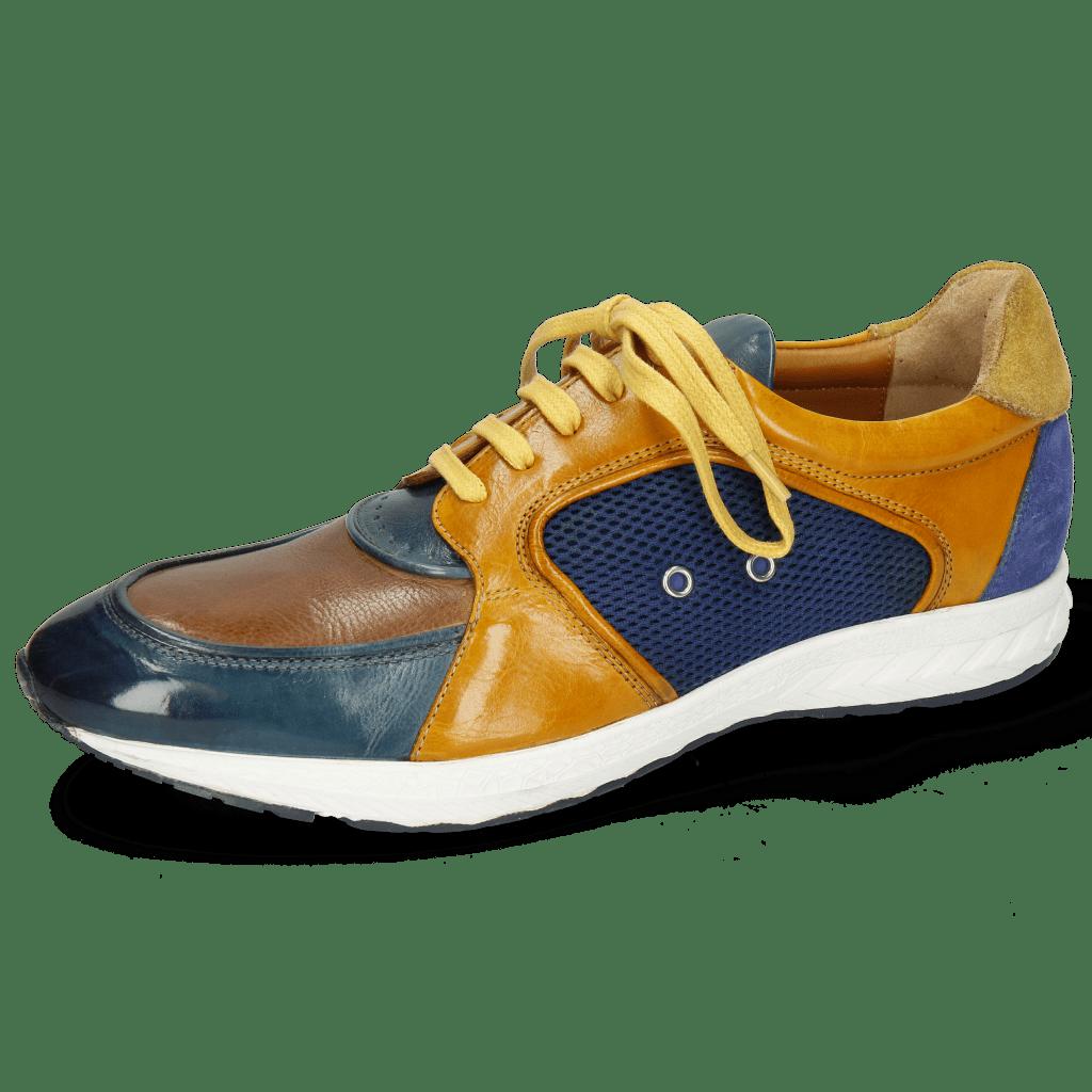Sneakersy Blair 18 Pisa Ice Tortora Indy Yellow Suede Navy