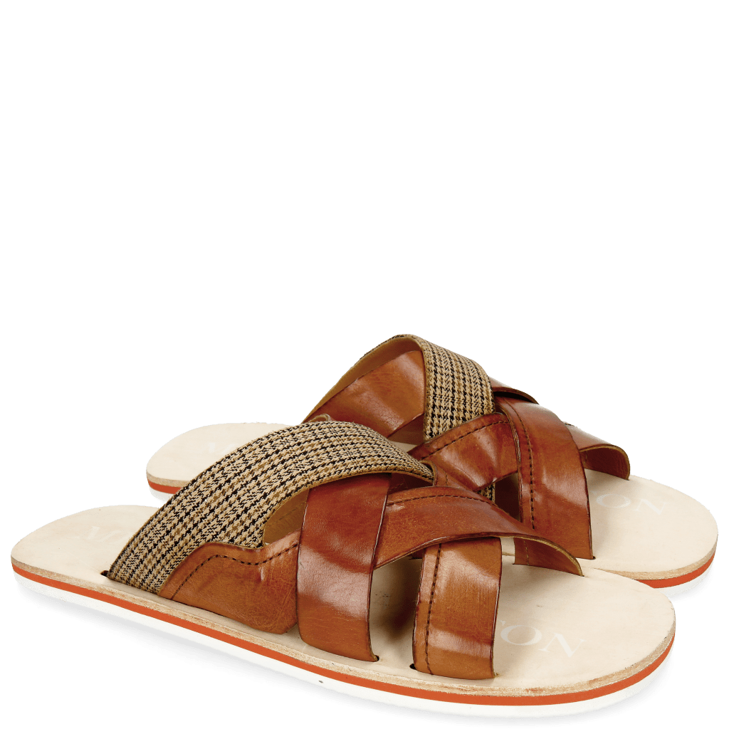 Sandały Sam 12 Tan Textile English Yellow
