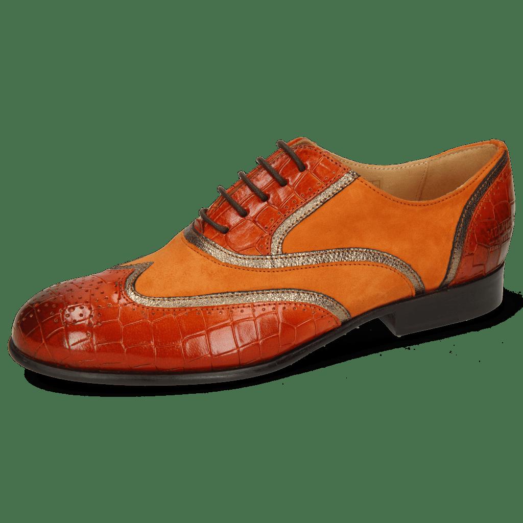 Oksfordki Sally 38 Crock Winter Orange Nappa Aztek Bronze