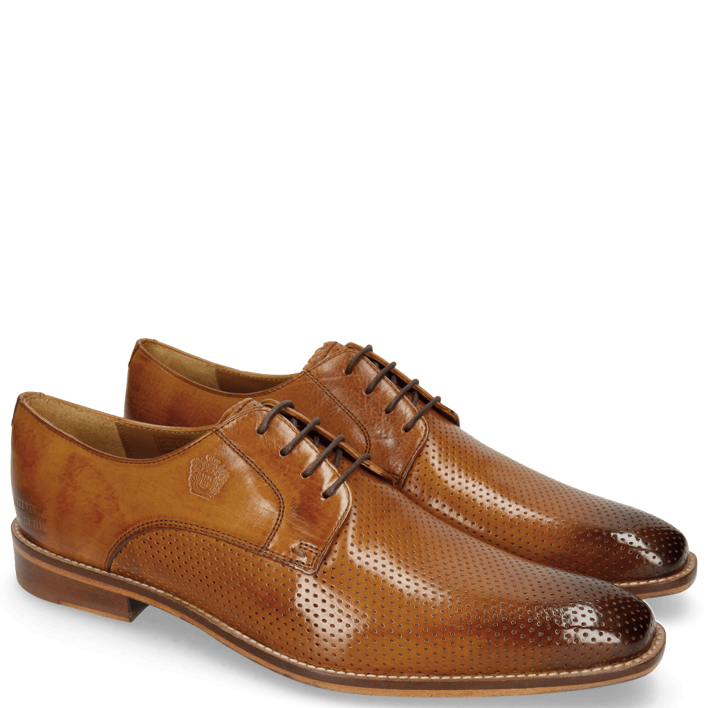 Derby Martin 1 Berlin Perfo Tan Laces