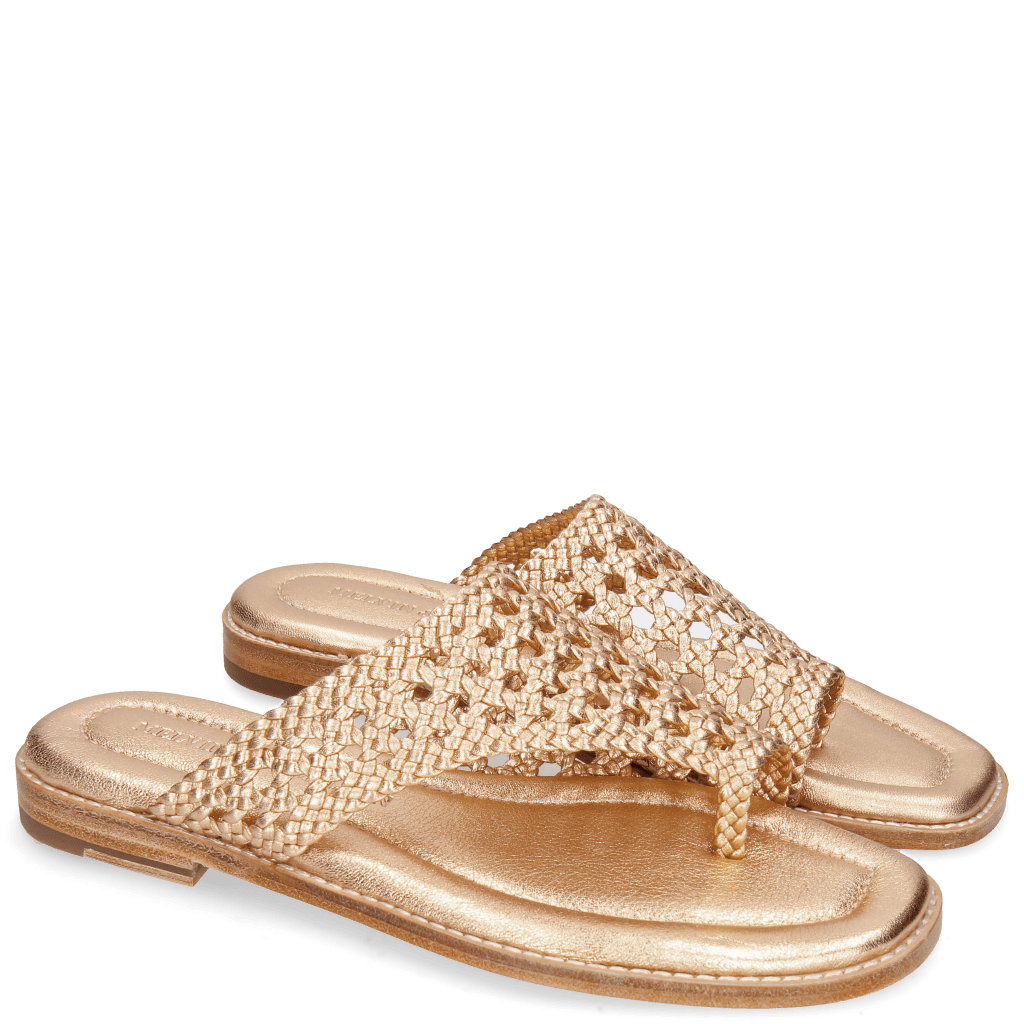 Mule Elodie 16 Woven Talca Rose Gold