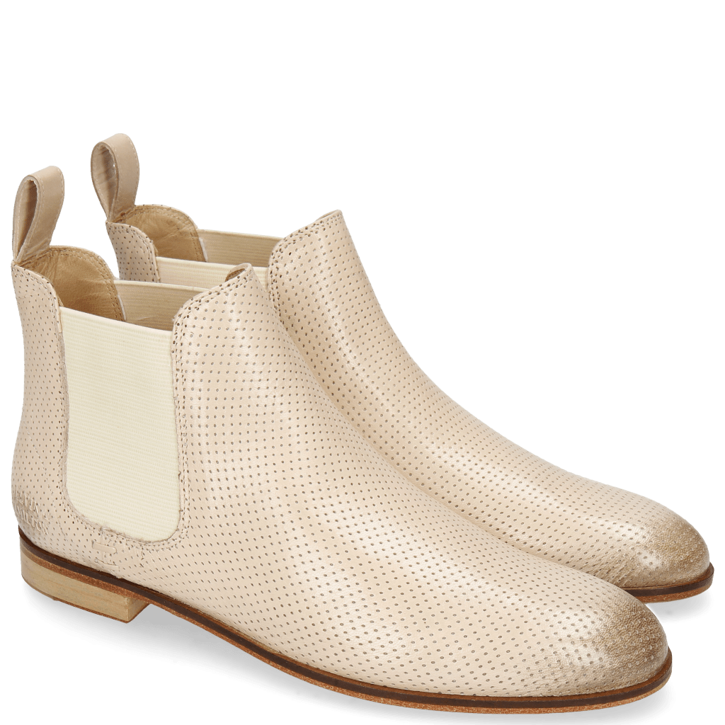 Botki Susan 10 Salerno Perfo Off White