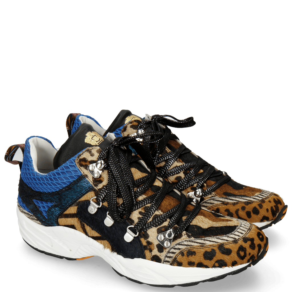 Sneakersy Magic 1 Hairon Leo Cappu Beige Stripes Black White Camo Blue Driveway