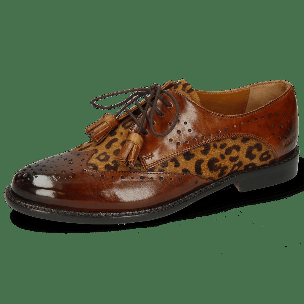 Derby Selina 41 Wood Hairon Leo Cognac