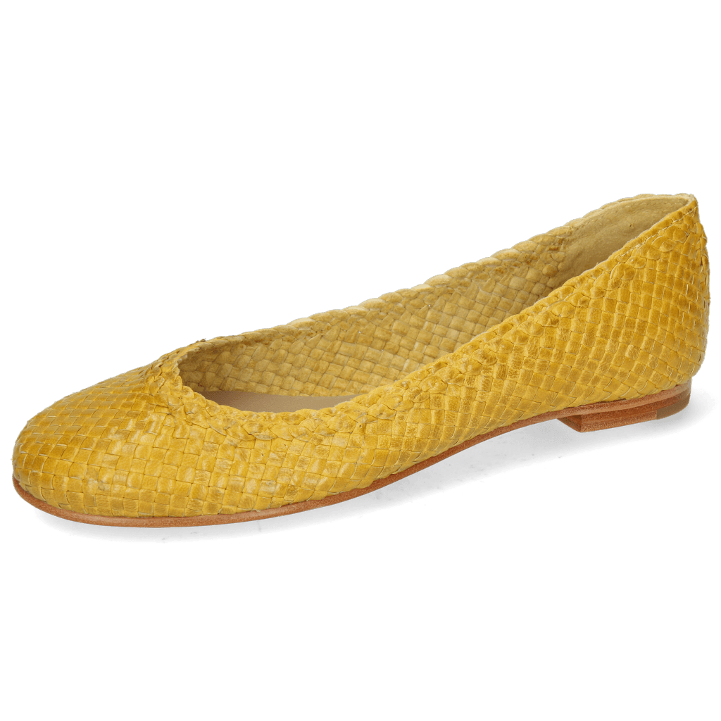 Baleriny Kate 5 Woven Yellow