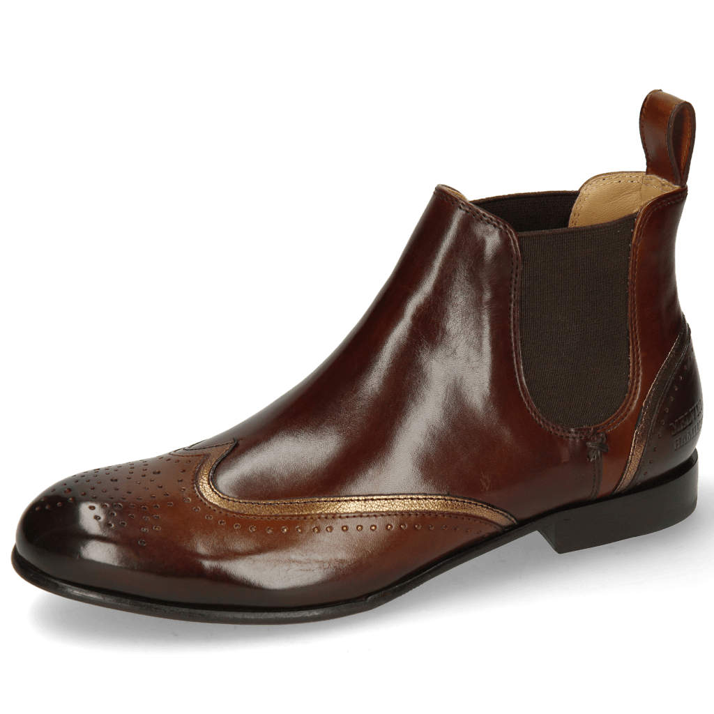 Botki Sally 19 Mid Brown Nappa Aztek Bronze Chestnut