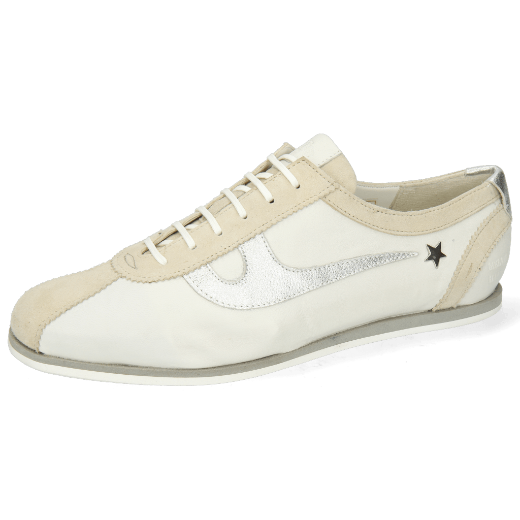 Sneakersy Pearl 1 Goat Suede Ivory Nappa White Talca