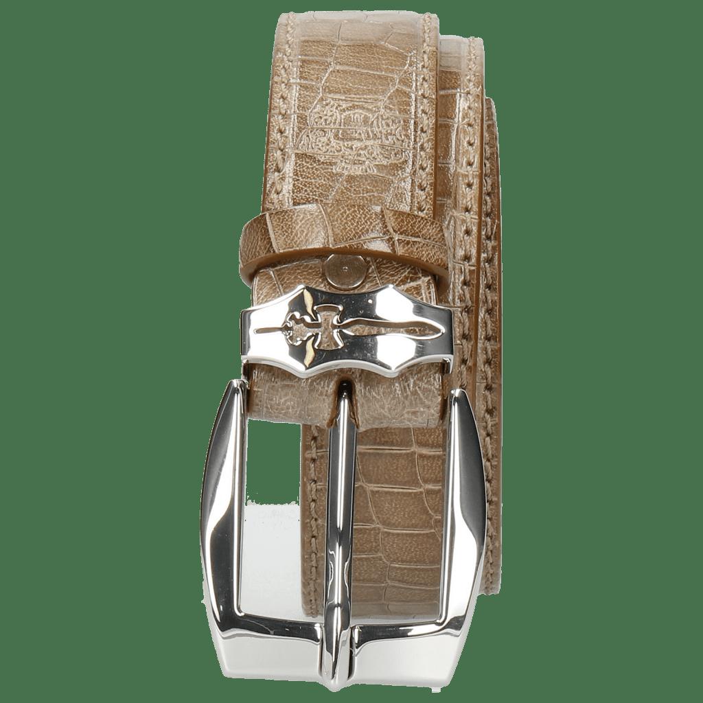 Paski Larry 1 Crock Light Grey Sword Buckle