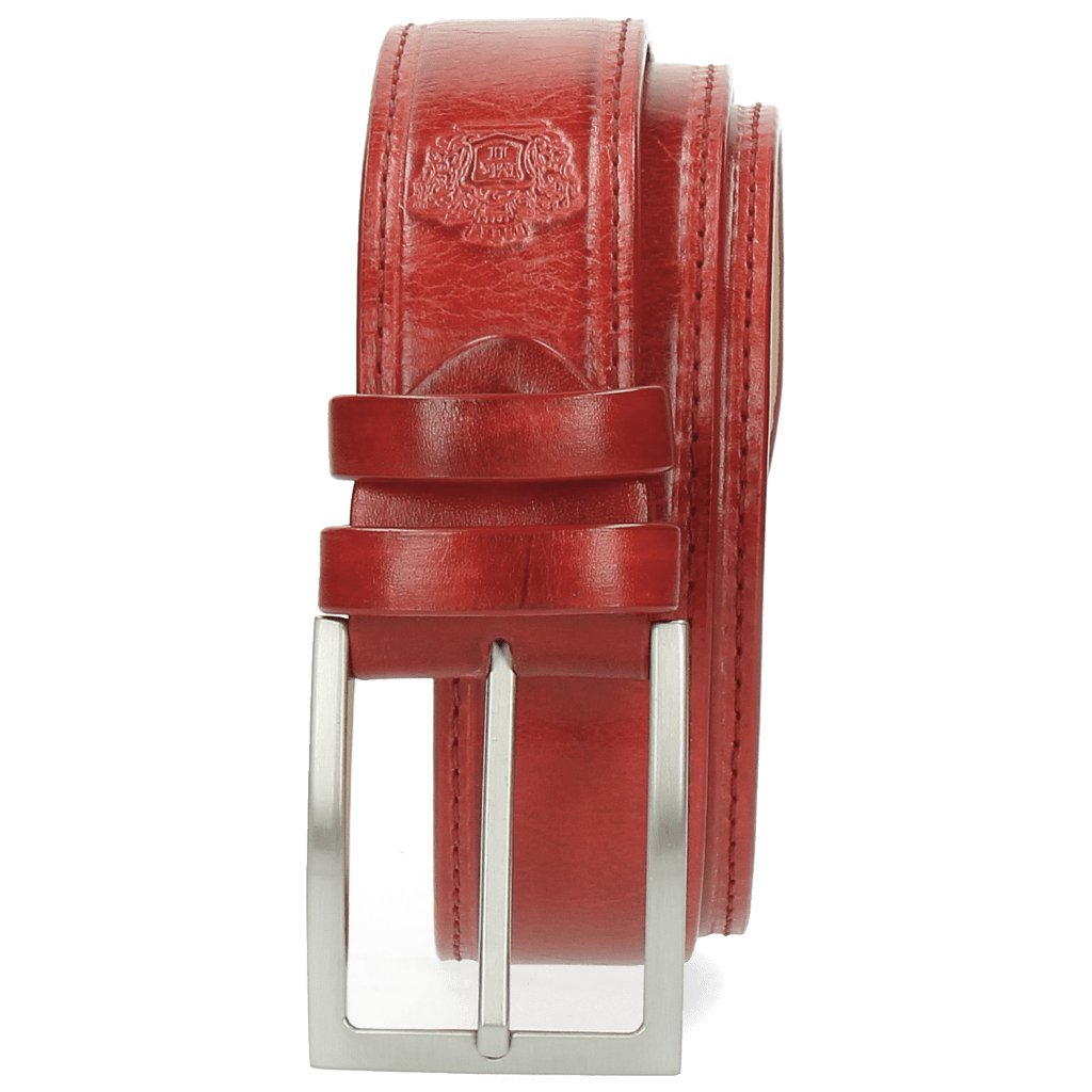 Paski Larry 1 Red Buckle Classic
