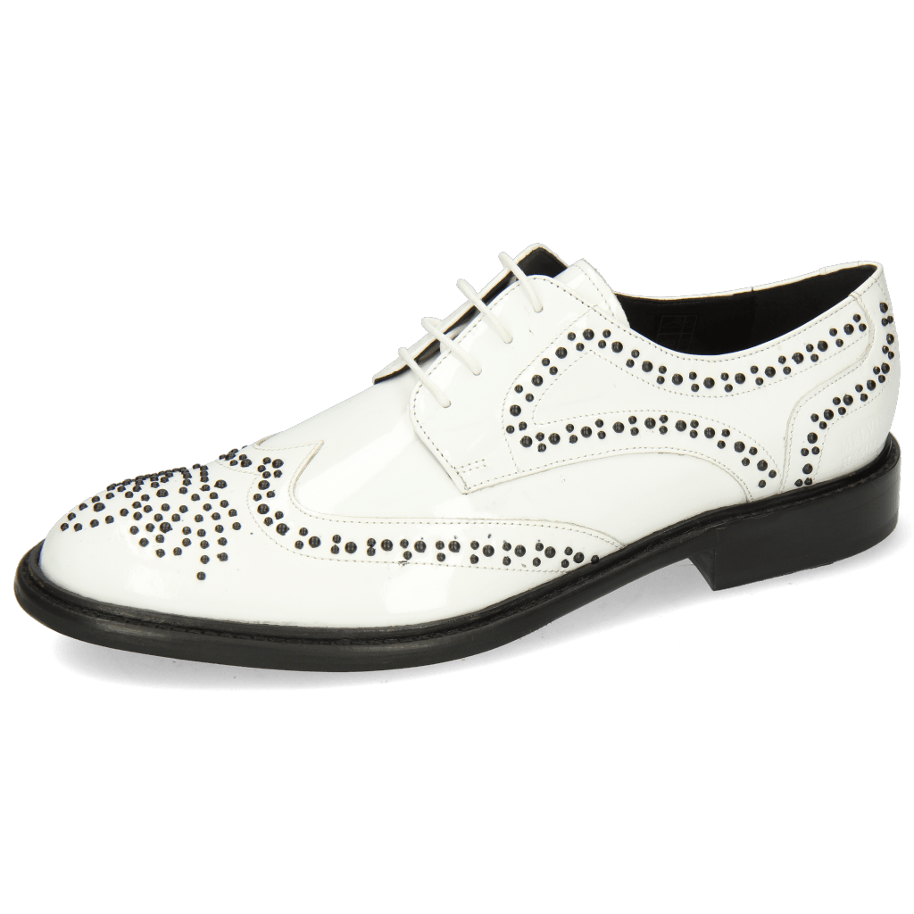 Derby Sally 53 Patent White Rivets