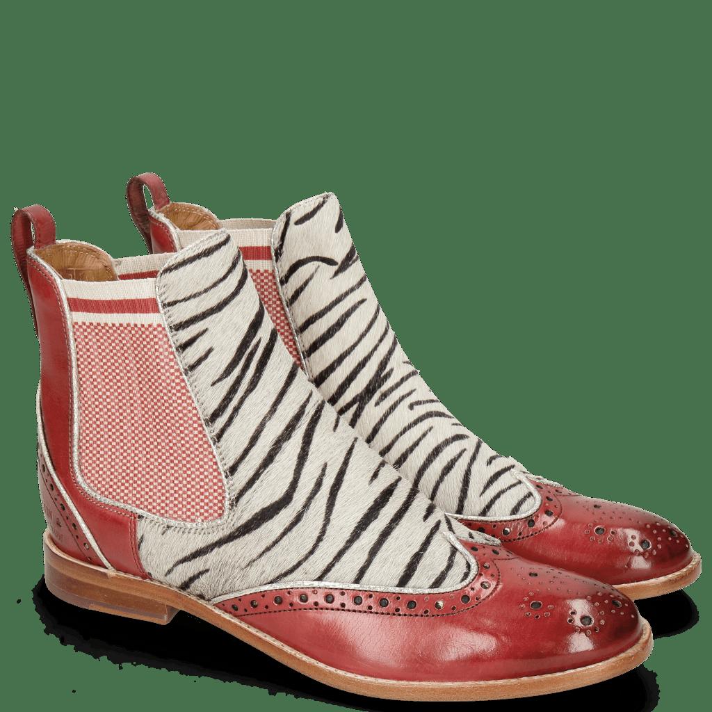Botki Amelie 43 Ruby Hairon Young Zebra Binding Grafi