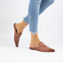 Mule Lydia 2 Woven Scale Rose