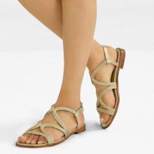 Sandały Sandra 28 Woven Mesh Pearlized
