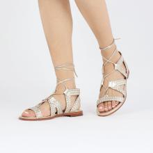 Sandały Sandra 11 Woven Nappa Platin Footbed