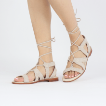 Sandały Sandra 11 Suede Chilena Woven Ivory Footbed