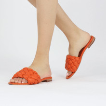 Mule Hanna 78 Nappa Orange Footbed