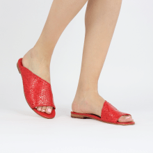 Mule Hanna 40 Woven Goat Red