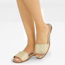 Mule Elodie 12 Woven Cherso Silver