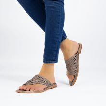 Mule Elodie 16 Woven Talca Mignon Pewter