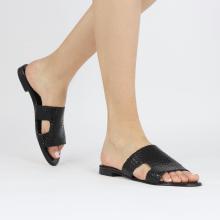 Mule Hanna 74 Woven Black Socks Foam