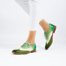 Oksfordki Amelie 10 Vegas Ultra Green White Mint Algae Electric Green