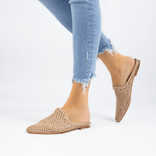 Mule Joolie 14 Woven Off White