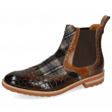 Botki Eddy 28 Crock Mid Brown Wood Textile Crayon Chestnut