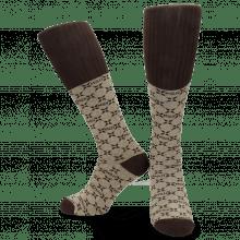 Skarpety Jamie 1 Knee High Socks Beige Brown