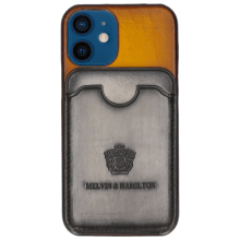 Etui iPhone Twelve Mini Vegas Yellow Wallet Grigio