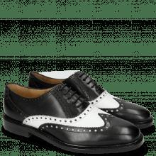 Oksfordki Katrin 4 Black Nappa White M&H Rubber Black